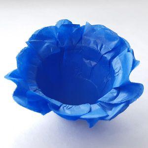 Forminha Floral de Seda Azul Escuro - 40 Unidades