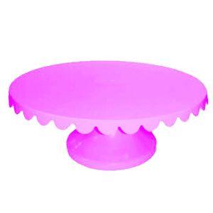 Boleira Giratória de Plástico com 32cm Rosa Bebe