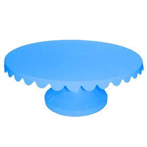 Boleira Giratória de Plástico com 32cm Azul Bebe