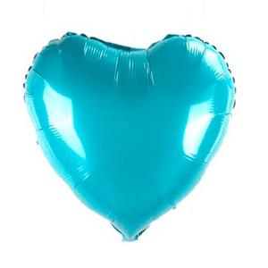Balão Metalizado Formato Coração 45cm