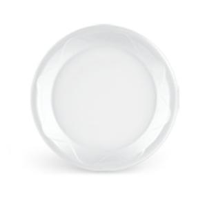 Prato Isopor Wave Branco - 20 unidades