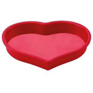 Forma De Silicone Vermelha Coração 4x24x24cm