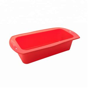 Forma De Silicone Vermelha Retangular 7x14x24cm