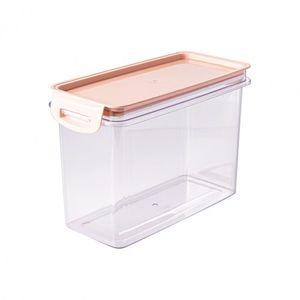 Porta Mantimentos Retangular Trava Mais Cristal 1,9 L