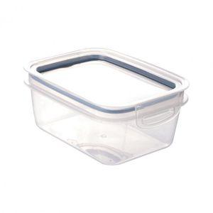 Pote de Plástico Retangular 910 ml Hermético Trava Mais
