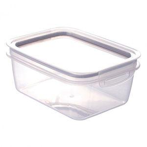 Pote de Plástico Retangular 1,3 L Hermético Trava Mais