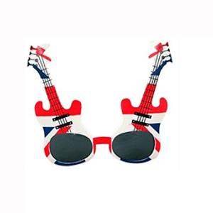Óculos Guitarra Azul e Vermelho