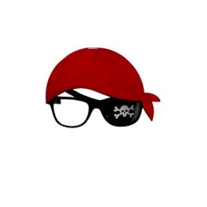 Óculos Pirata Com Bandan