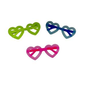 Óculos Neon Coração - 12 unidades