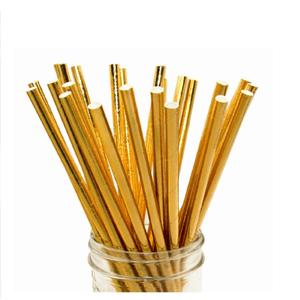 Canudo de Papel Metalizado - Pacote com 25 unidades