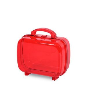 Mini Maletinha de Acrílico 7 x 6cm com 10 Unidades Vermelho