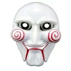 Máscara em Plástico Rígido Branco/Vermelho