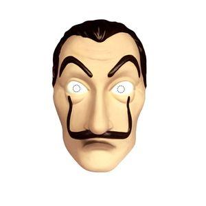 Máscara em Plástico Rígido com Bigode