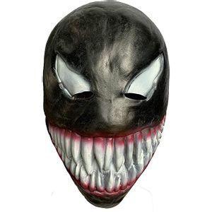 Máscara em Plástico Rígido Preto/Vermelho