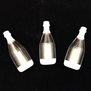 Lembrancinha de Plástico Garrafinha 11,5 x 1,5cm com 12 Unidades Branco