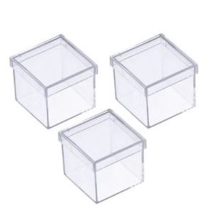 Caixa Acrílica 5 x 5 x 4,5cm com 10 Unidades