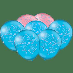 Balão de Latex n°9 Chá de Revelação 25 unidades