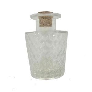 Garrafa de Vidro Lapidada para Difusor 9,5x6,5cm