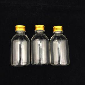 Mini Garrafinha Plástica com Tampa de Metal 8 x 3,5cm com 12 Unidades Ouro