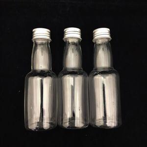 Mini Garrafinha Plástica com Tampa de Metal 11 x 3,5cm com 12 Unidades Prata