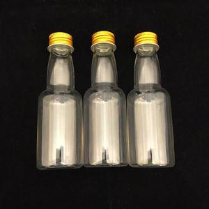 Mini Garrafinha Plástica com Tampa de Metal 11 x 3,5cm com 12 Unidades Ouro