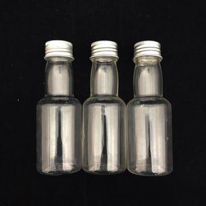 Mini Garrafinha Plástica com Tampa de Metal 10 x 3,5cm com 12 Unidades Prata