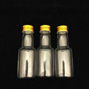 Mini Garrafinha Plástica com Tampa de Metal 10 x 3,5cm com 12 Unidades Ouro