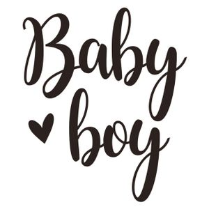 """Letra Para Balão Bubble """"Baby Boy"""" Para Balões de 20 a 36"""""""