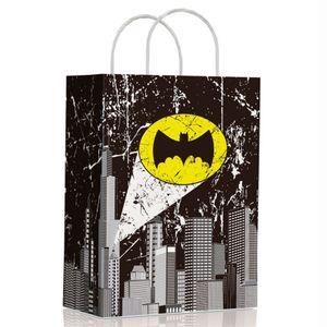 Sacola de Papel Para Lembrancinhas 17,5 x 8,5 x 21,5cm com 10 Unidades Batman