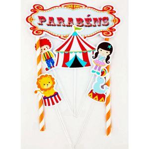 Kit Topo de Bolo Circo