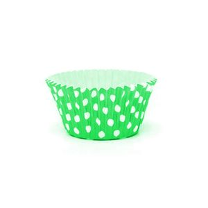 Forminha de Papel Art Para Cupcake 5 x 7,5 x 4cm Verde - 12 Unidades
