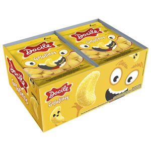 Caixa de Bala de Gelatina Mini Banana 15gr - 12 Unidades
