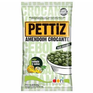 Amendoim Pettiz Cebola/Salsa Dori 500g