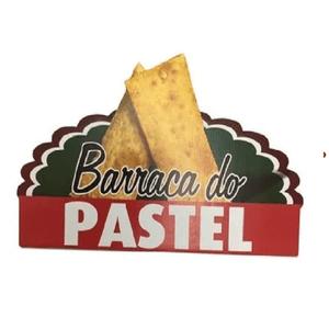 Painel de Papelão Barraca do Pastel 46x26cm