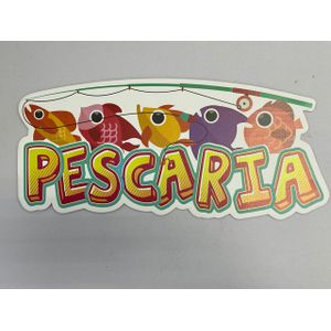 Painel de Papelão Pescaria 49x22cm