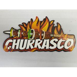 Painel de Papelão Churrasco 49x24cm