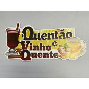 Painel de Papelão Quentão e Vinho Quente 48x23,5cm