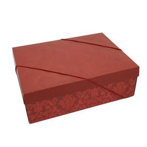 Caixa Decorada Luxuria Vermelho 24x18x8cm