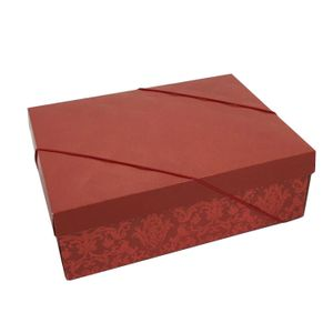 Caixa Decorada Luxuria Vermelho 46x33x14cm