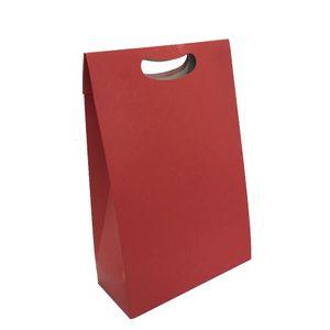 Caixa Plus P Textura Vermelho 18x75x25cm