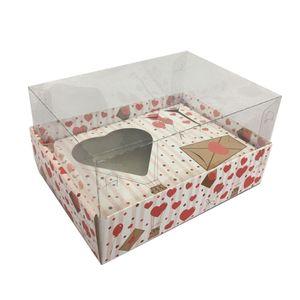 Caixa Kit Confeiteiro Coração Cartas e Balões 13x16x17cm