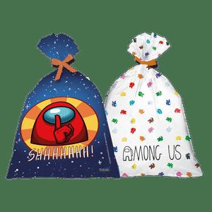 Sacola Plástica para Festa Among Us - 8 unidades