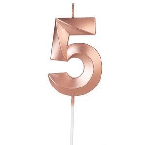 Vela Design Rose Gold Numero 5