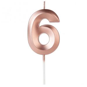 Vela Design Rose Gold Numero 6