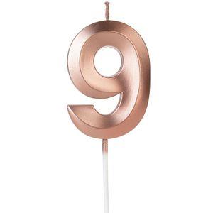 Vela Design Rose Gold Numero 9