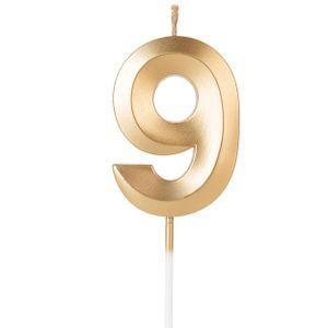 Vela Design Dourada Numero 9