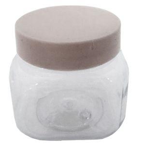 Lembrancinha Plástica Pote Geleinha Quadrado 5 x 5cm com 12 Unidades Branco