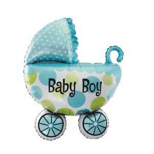 Balão Metalizado Carrinho Bebê Menino 70 x 45,5cm