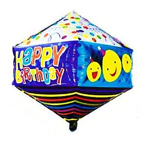 Balão Metalizado Happy Birthday 72,5 x 37,5cm