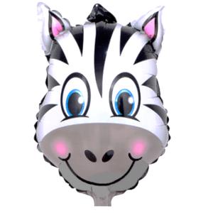 Balão Metalizado Safari Zebra 62,5 x 45cm